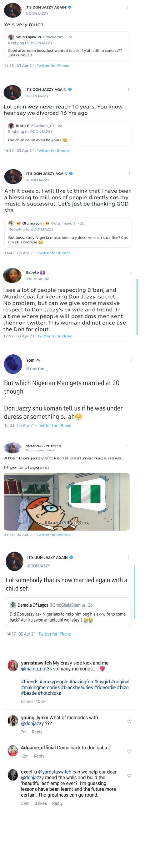 Donjazzy Failed marriage