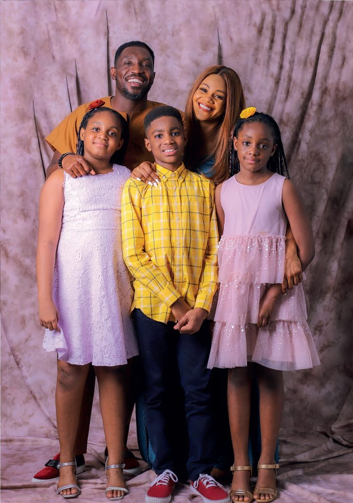 Timi Dakolo with Family - The Yard People