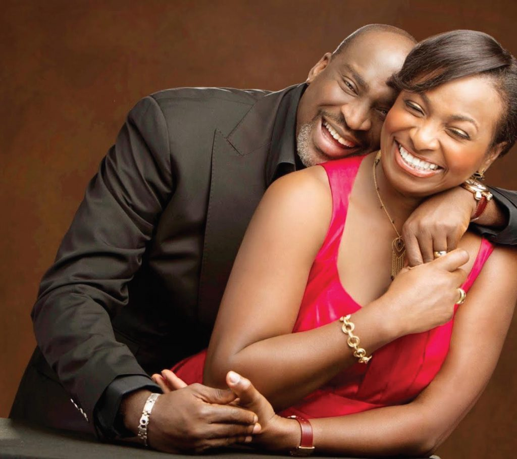 Chike Ogeah with Wife