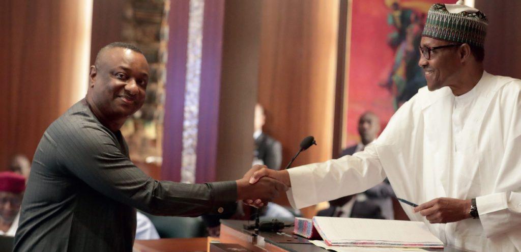 Festus Keyamo with Buhari