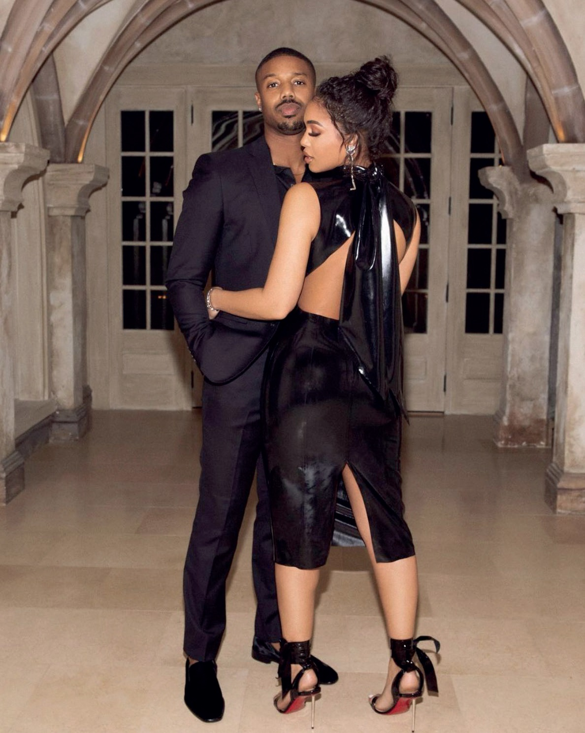 Michael Bakari Jordan with Girlfriend