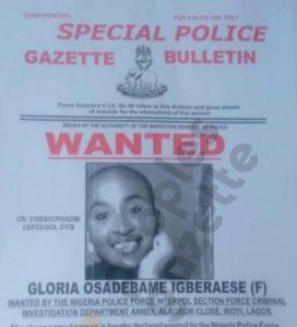 Glory Osei Wanted Poster