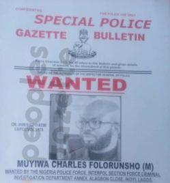 Muyiwa Folorunsho Wanted Poster