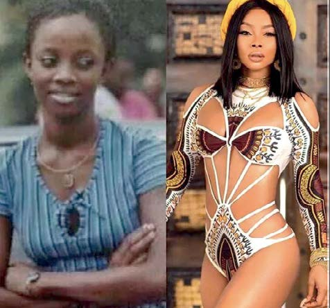Toke Makinwa BEFORE and AFTER